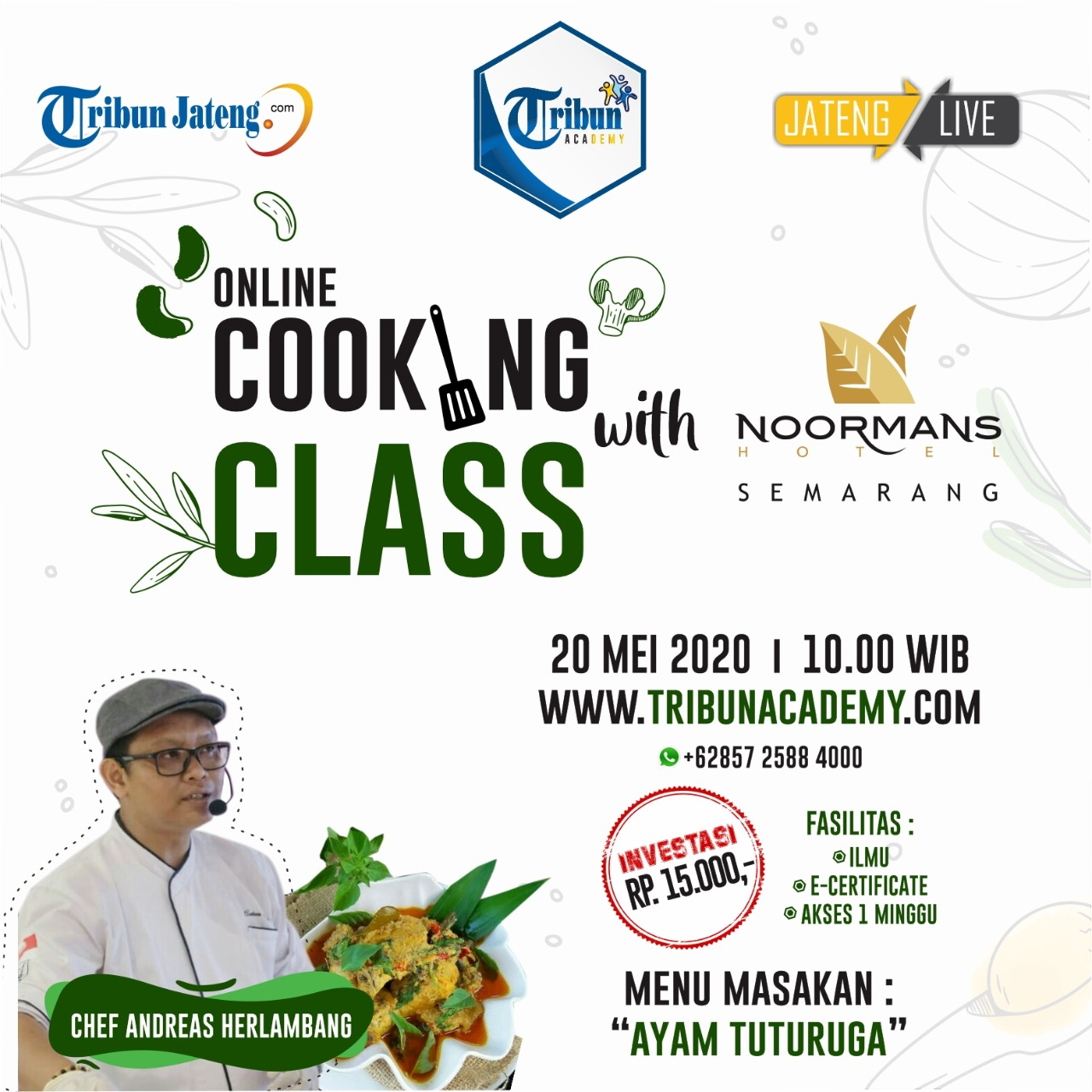 online cooking class with noormans hotel