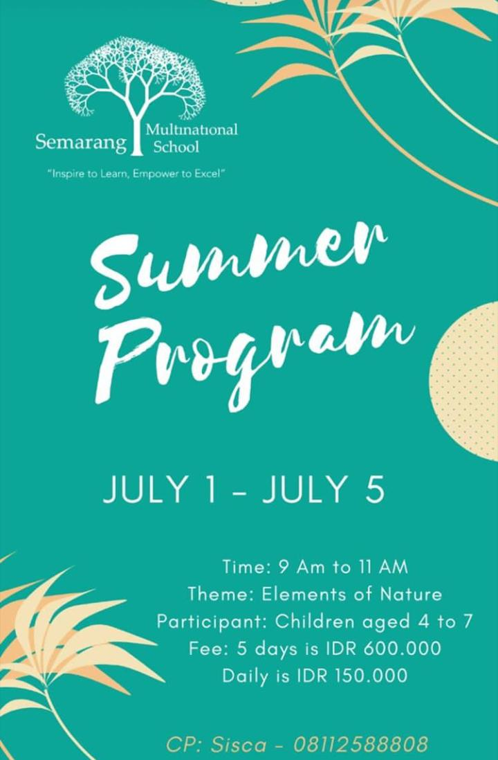 Semarang Multinational School Summer Program 2019