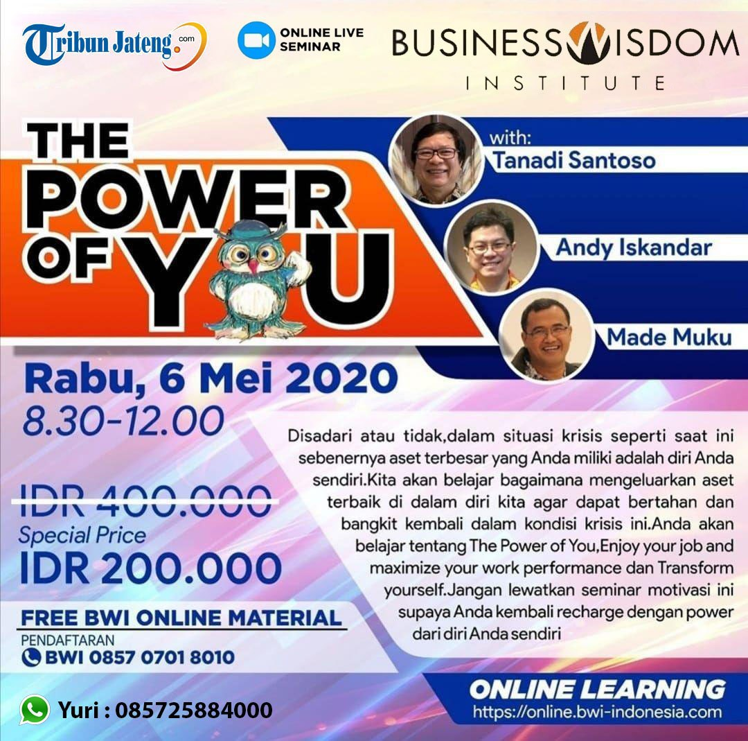 seminar online the power of you