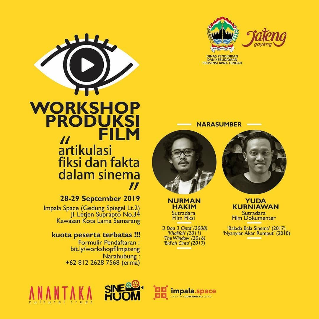 Workshop Produksi Film Artikulasi Fiksi Dan Fakta Dalam Sinema