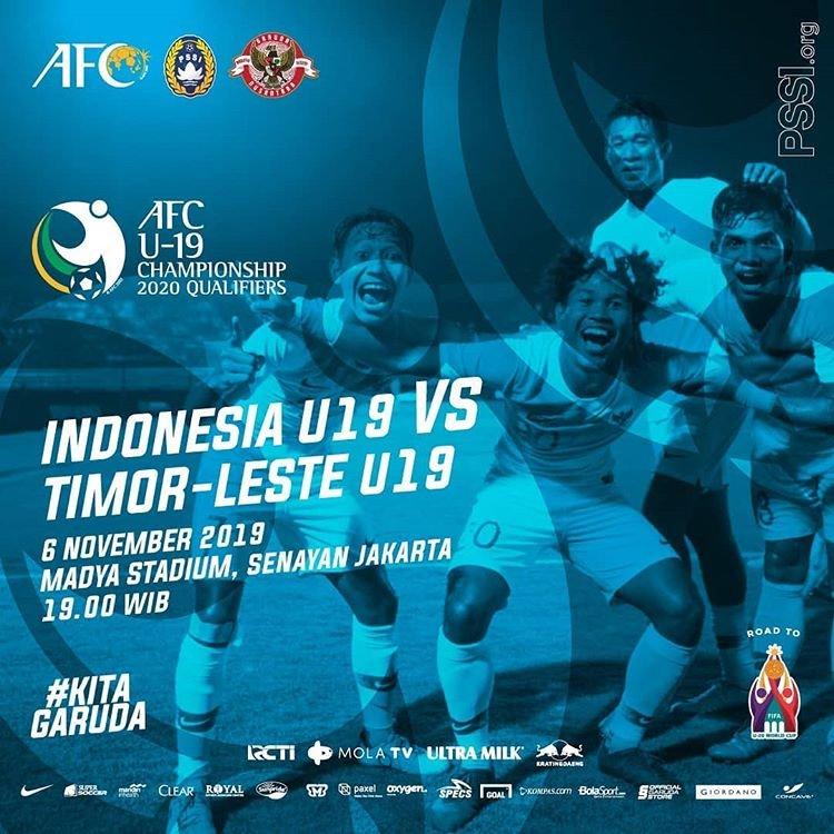 AFC CUP: Misi Kemenagan Pertama Timnas Indonesia U-19 Melawan Timor Leste U-19 di Grup K