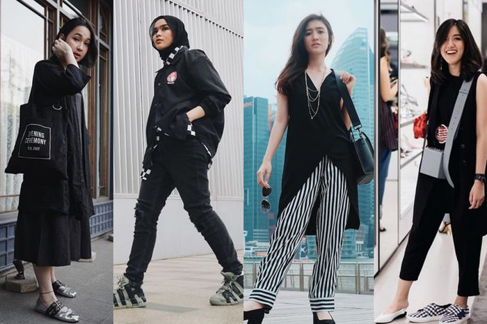 Outfit hitam ala BLINK