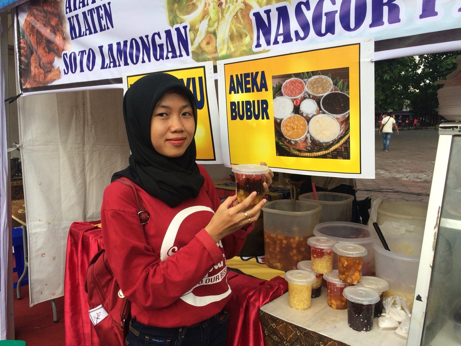 Stand Aneka Bubur di acara Festival Kuliner Tribun Jateng, Sam Poo Kong