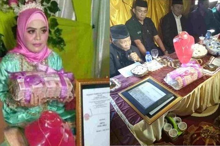 Beri Mahar 1 Miliar,  Kakek Berusia 70 Tahun Nikahi Gadis Asal  Bone