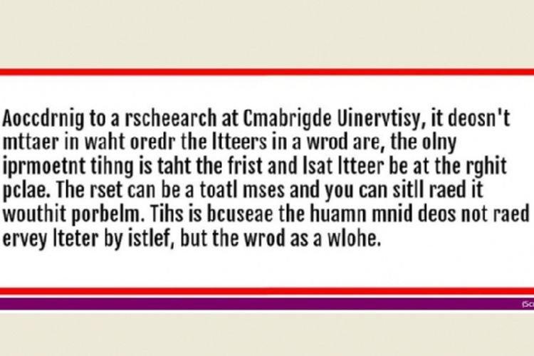 Bisa Membaca Typo Adalah Bukti Kecerdasan Otak Anda