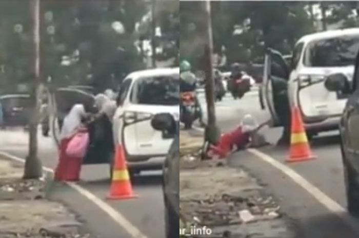 Bocah yang Ditendang dari Dalam Mobil Diduga Murid SD BSS Malang, Pihak Sekolah Beri Klarifikasi