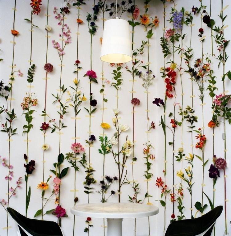 hiasan dinding gambar dengan bunga