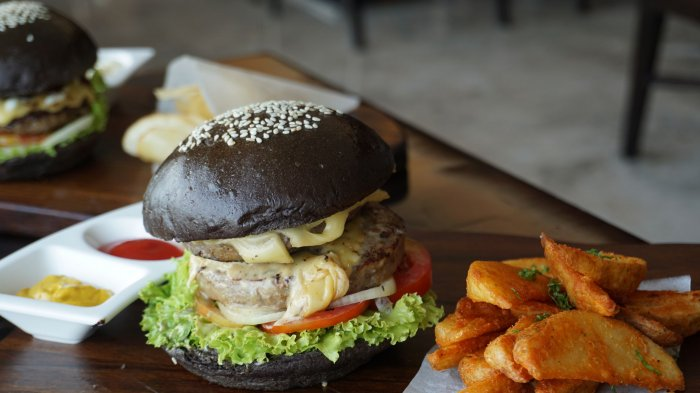 Black Crowne Double Cheese Beef Burger