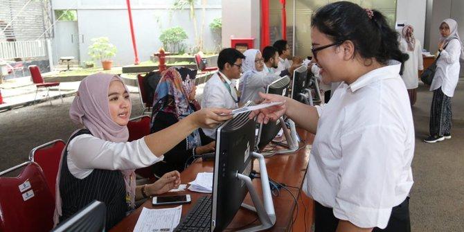 Seleksi Kompetensi Dasar (SKD) penerimaan CPNS di Kantor Badan Kepegawaian Negara.