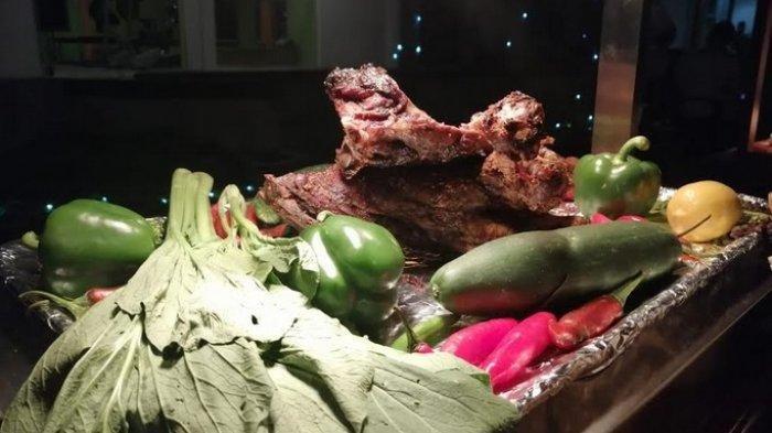 Menu Daging Kmbing Bakar Santi n Satay Hotel Santika