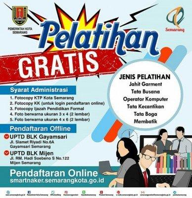Disnaker Kota Semarang Memberikan Pelatihan Gratis