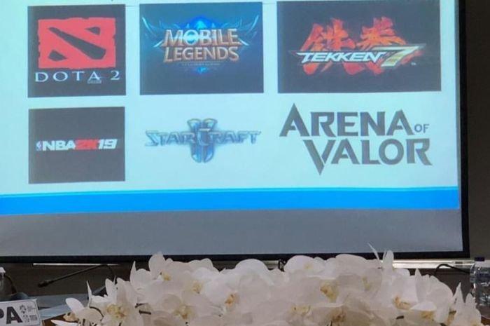 Enam Game Viral Ini Akan Dipertandingkan di SEA Games 2019