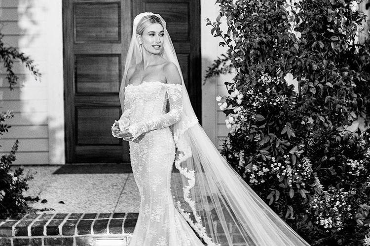 Gaun Pernikahan Hailey Bieber Dipesan Khusus dari Off-White