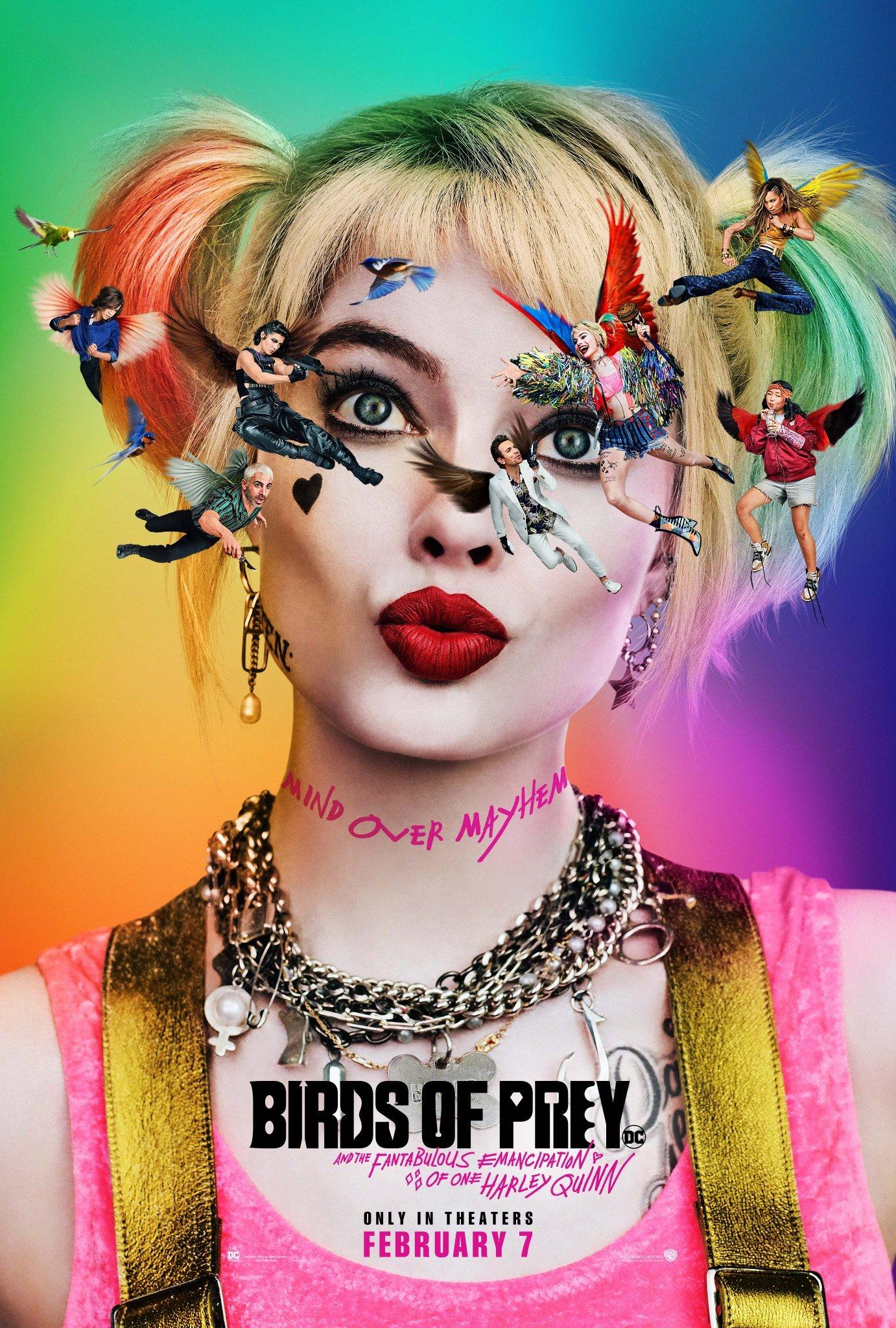 Harley Quinn Tampil Seksi Dan Penuh Warna Di Poster Perdana Birds Of Prey