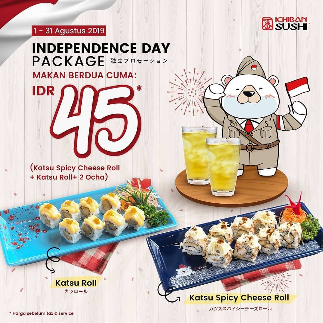 Independence Day Package di Ichiban Sushi