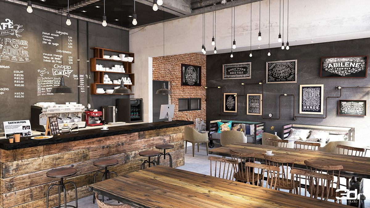 Interior Rustic Design Jadi Andalan Coffee Shop Kekinian