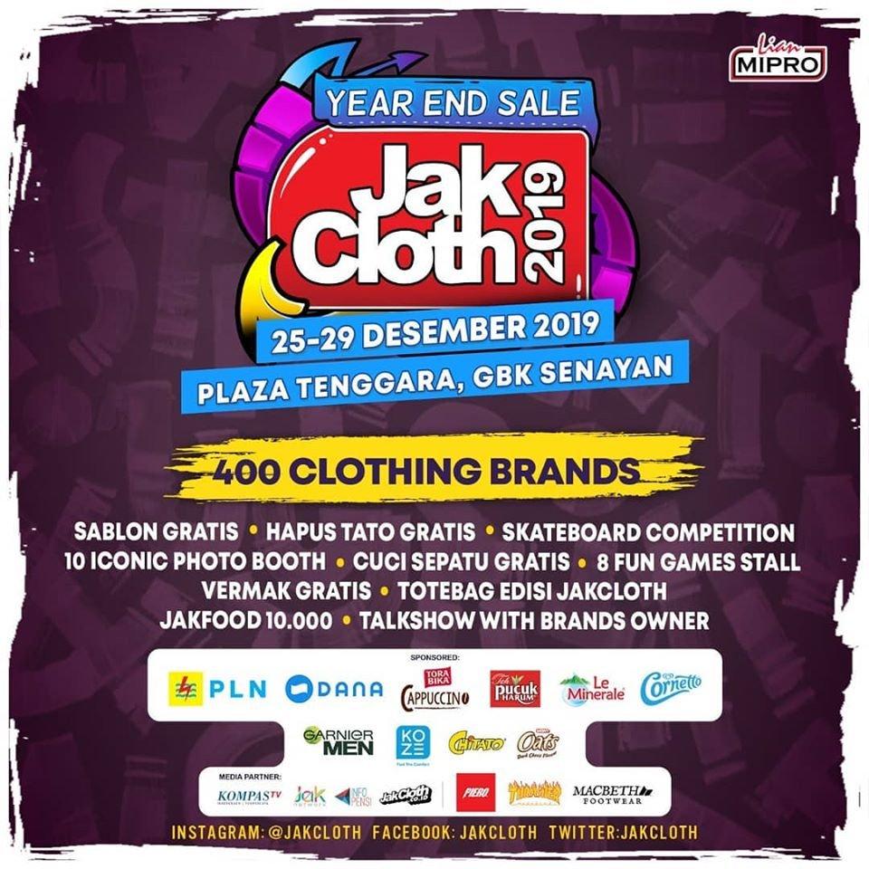JakCloth Year End Sale Jakarta 2019