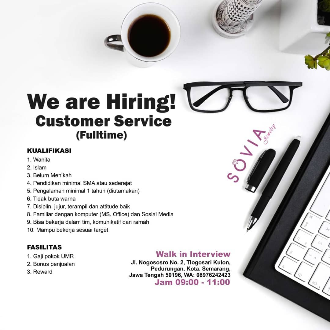 Job Vacancy : Sovia Jewelry