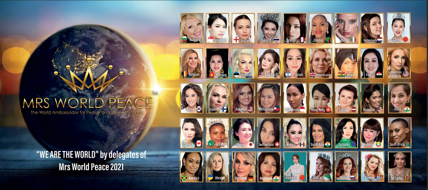 Mrs World Peace 2021 the largest and the first virtual pageant competition in the world.
