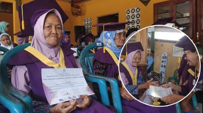 Kisah Mbah Sogirah Diwisuda Saat Berumur 74 Tahun Ikut Program Erderly School