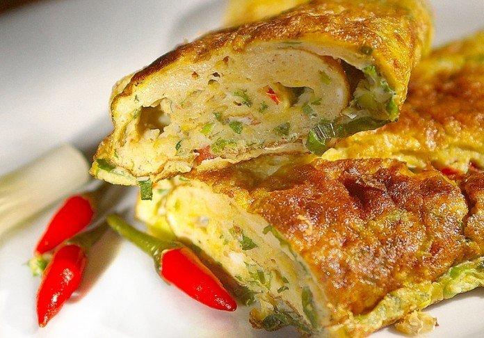 telur dadar ala rumah makan padang