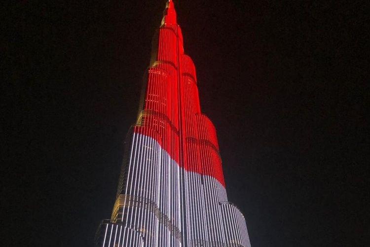 Pertama Kali, LED Burj Khalifa Tampilkan Warna Bendera Indonesia Dalam Peringatan 17 Agustus 2019