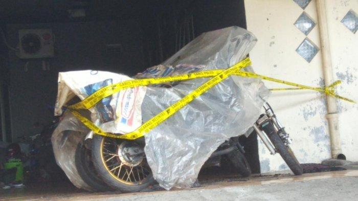 Polsek Ngaliyan Semarang dan Inafis berhasil kantongi data, dari TKP pembakaran motor