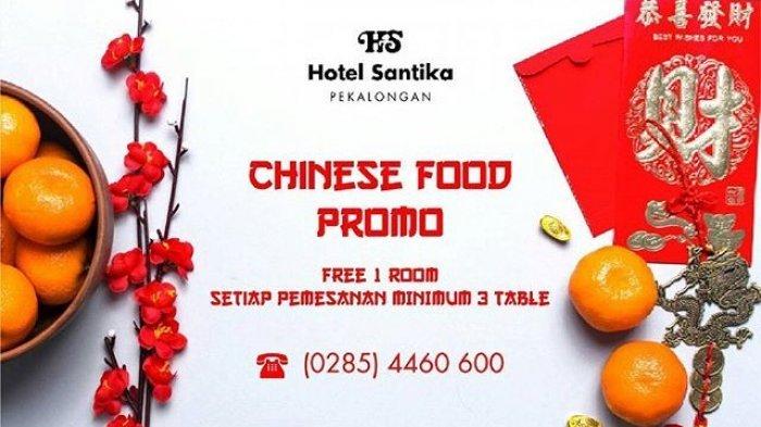 Promo Imlek, Hotel Santika Pekalongan Siapkan Menu Khas China