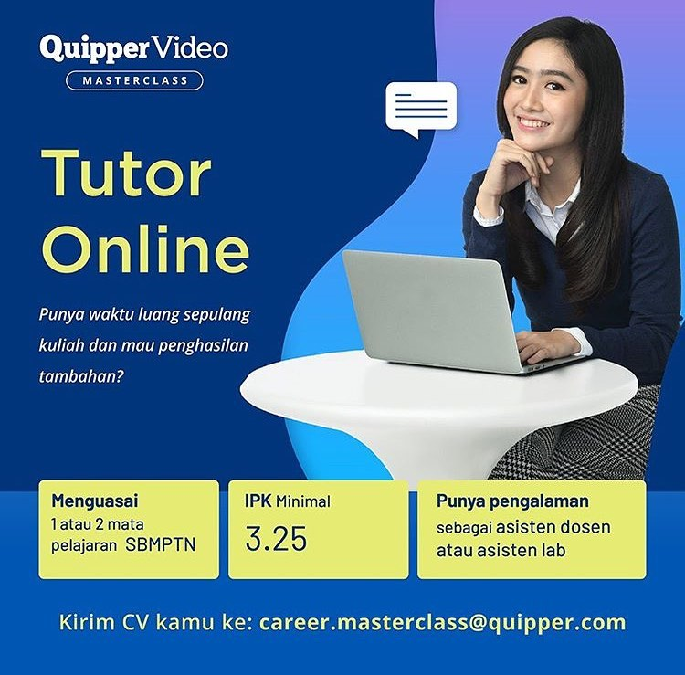 QUIPPER VIDEO MASTERCLASS : TUTOR ONLINE