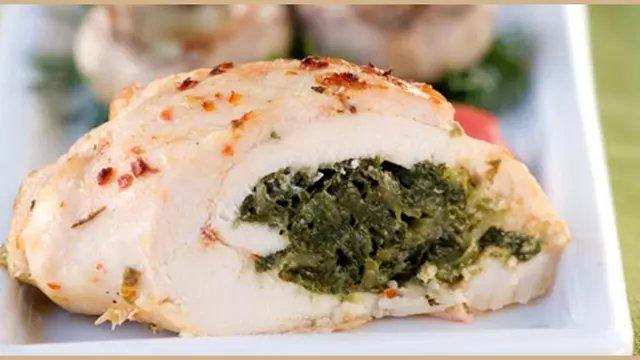 Ayam Panggang Isi Bayam