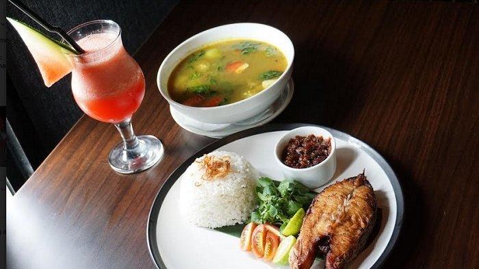 Menu makan Sup Tanjung Mas yang ada di resto Atoz, yang termasuk dalam paket menu Factory Lunch