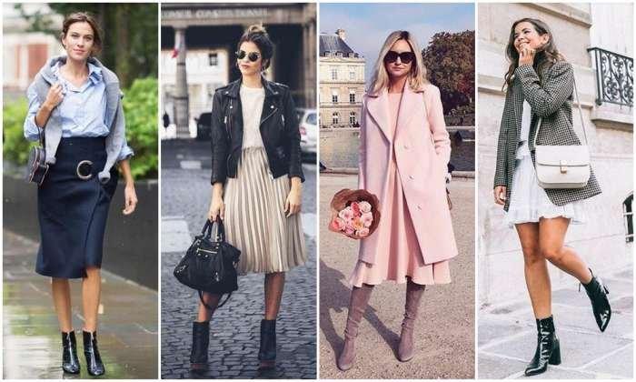 Tips padu padan rok dengan sepatu boots yang super stylish di musim hujan.
