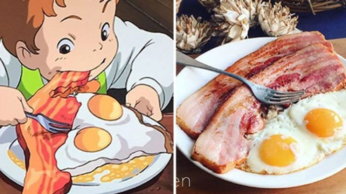 Wanita Asal Jepang Kreasikan Makana Berdasarkan Film-film Studio Ghibli, Animasi Jadi Kenyataan!